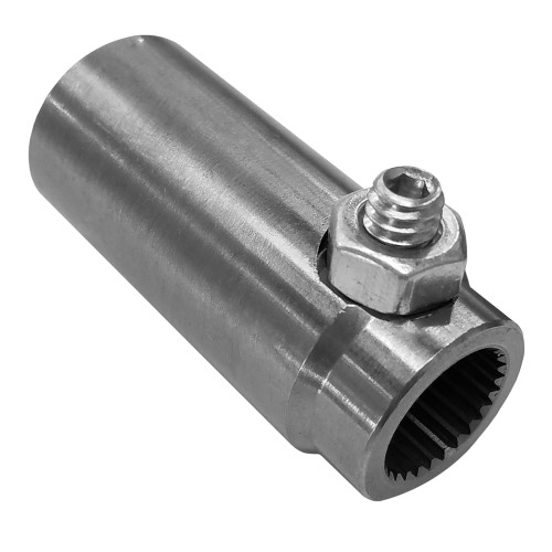 "Steering Rack Adapter, 26 Spline, Female to 3/4"" Tube"