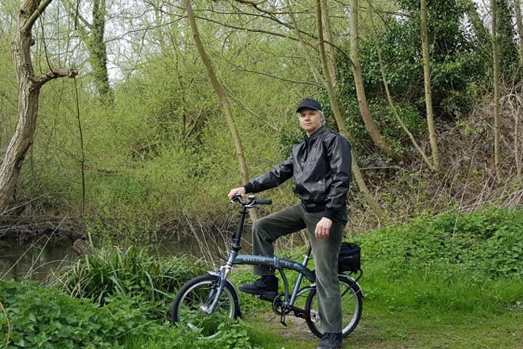 8C folding bike silver woods