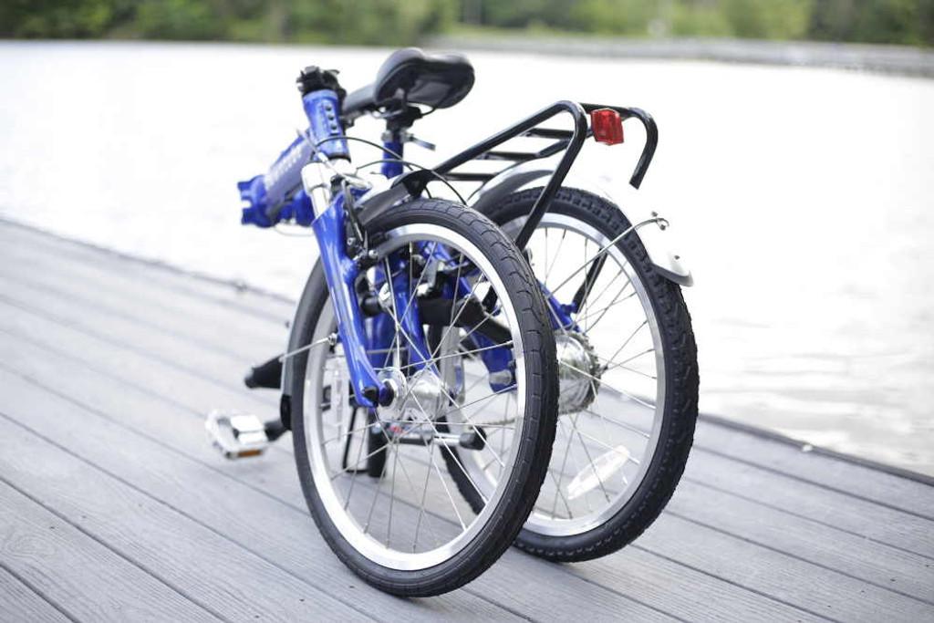 8C folding bike folded on the water