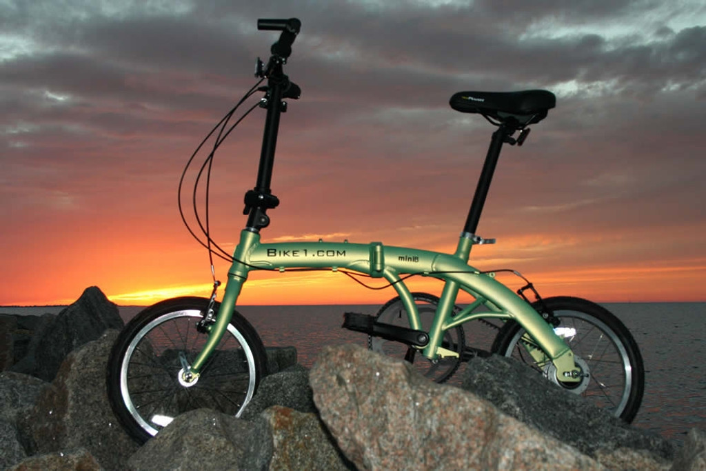 mini folding bike sunset non-drive side