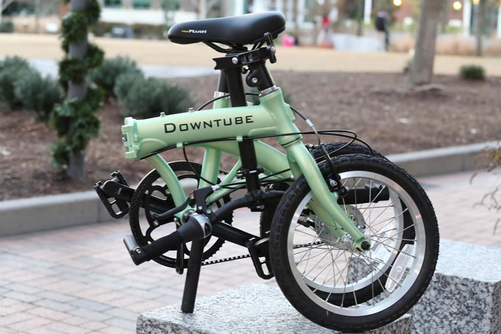 mini folding bike folded