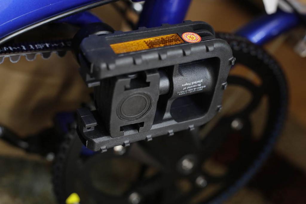 mini folding bike blue pedal
