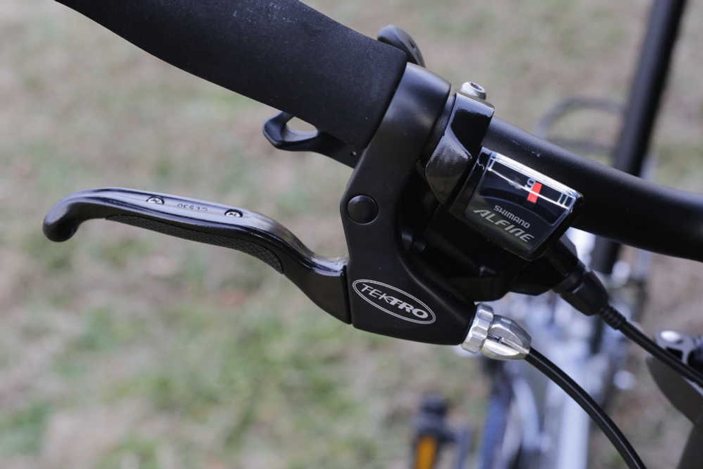 mini folding bike silver shifter