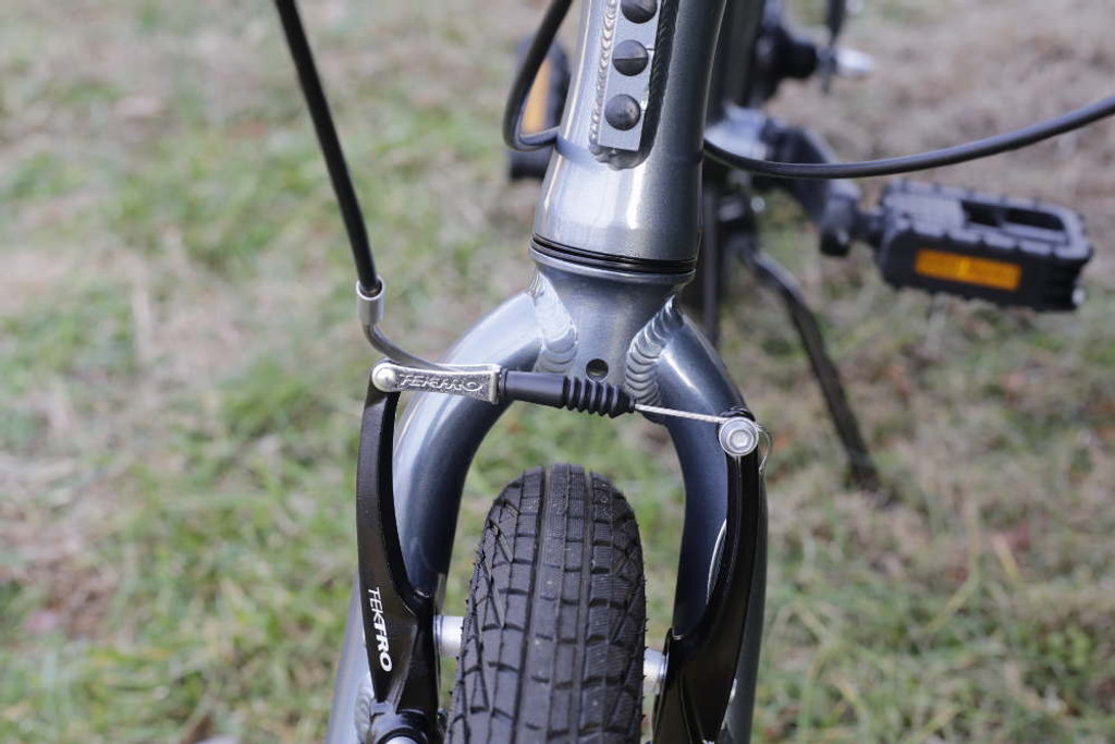 mini folding bike silver fork
