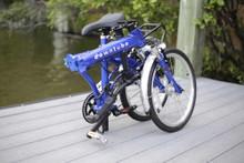 8C folding bike folded by water