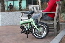 mini folding bike in the park
