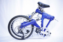 Blue 8FS bike folded