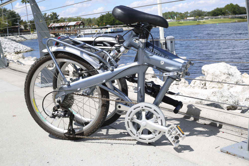 9S Downtube Disney Folded on the water