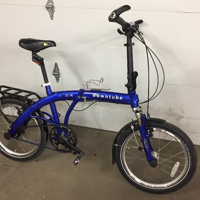 Custom 11H folding bike with suspension