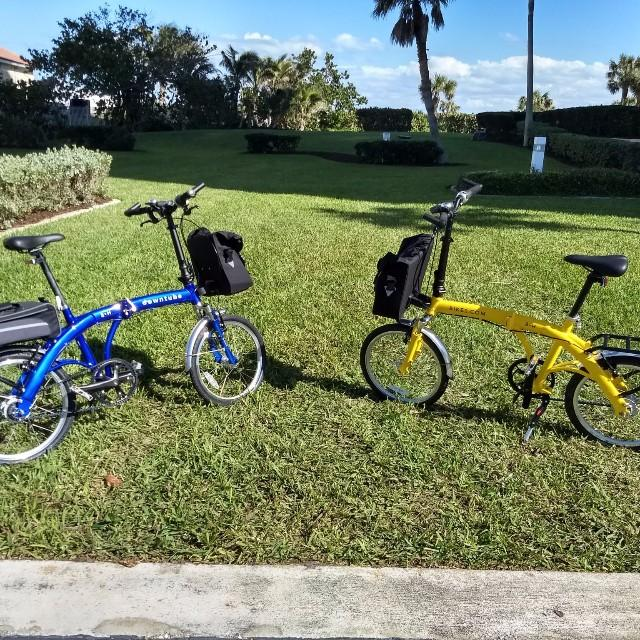 Folding bikes in Florida on vacation