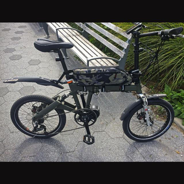 folding ebike conversion with suspension