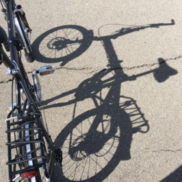 9S folding bike with disc brakes