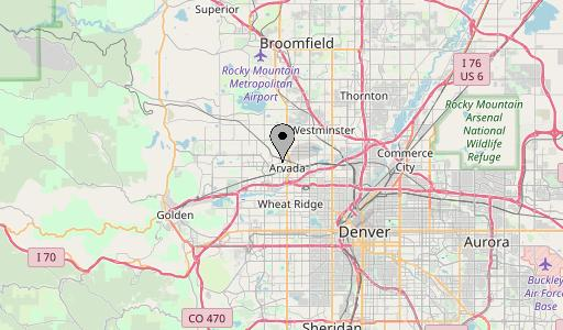 Arvada map