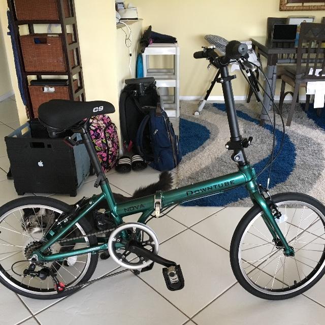 Green Nova folding bike