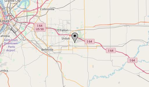 Scott air force base map
