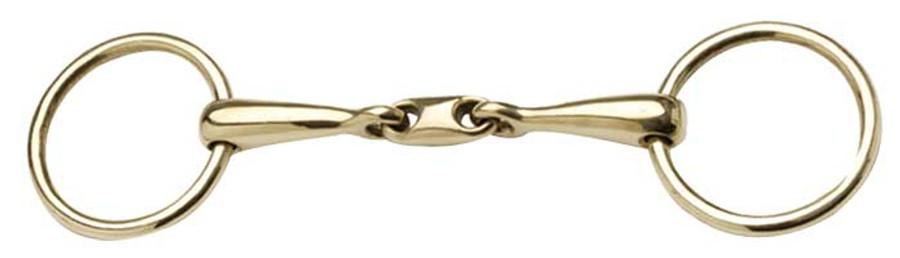Brass ring snaffle