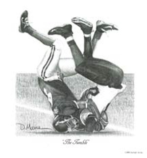 """The Tumble"" - Pencil Drawing - Alabama Football vs. Southern Mississippi 2005"
