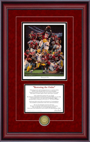 "Print-Poem - ""Restoring the Order"" - Alabama Football 2011 National Champions"