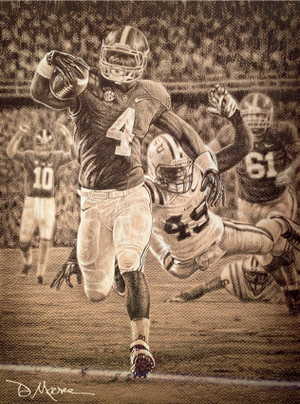 Alabama Football Art Pencil Drawing Prints