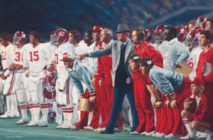 "The Coach and 315 - Collegiate Classic 8x10 - Coach Paul ""Bear"" Bryant - Alabama Football vs. Auburn 1981"