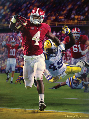 """Death Valley Drive"" - Collegiate Classic 8x10 - Alabama Football vs. LSU 2012"