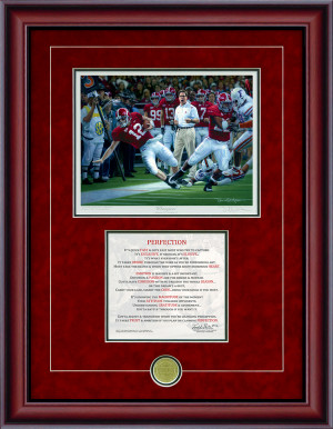 "Print-Poem - ""Champions"" - Alabama Football 2009 SEC Champions"