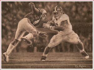 """Never Again"" - Pencil Drawing - Alabama Football vs. Auburn 2011 (Trent Richardson)"