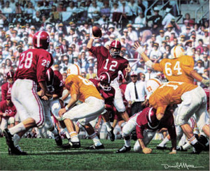 Third Saturday Classic - Canvas Editions - Alabama Football vs. Tennessee 1962 (Joe Namath)