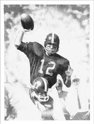 Third Saturday Pencil Study - Alabama Football vs. Tennessee 1962 (Joe Namath)