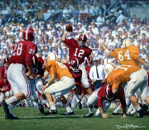 Third Saturday Classic - Print Editions - Alabama Football vs. Tennessee 1962 (Joe Namath)