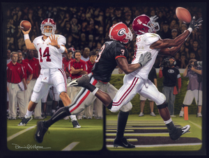 """The Blackout"" - Collegiate Classic 8x10 - Alabama Football vs. Georgia 2008"
