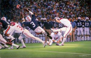The Kick - Collegiate Classic 8x10 - Alabama Football vs. Auburn 1985 (Van Tiffin)