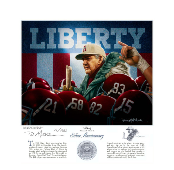 """Liberty"" - Coach Paul ""Bear"" Bryant - Alabama Football Coach (Liberty Bowl 1982)"
