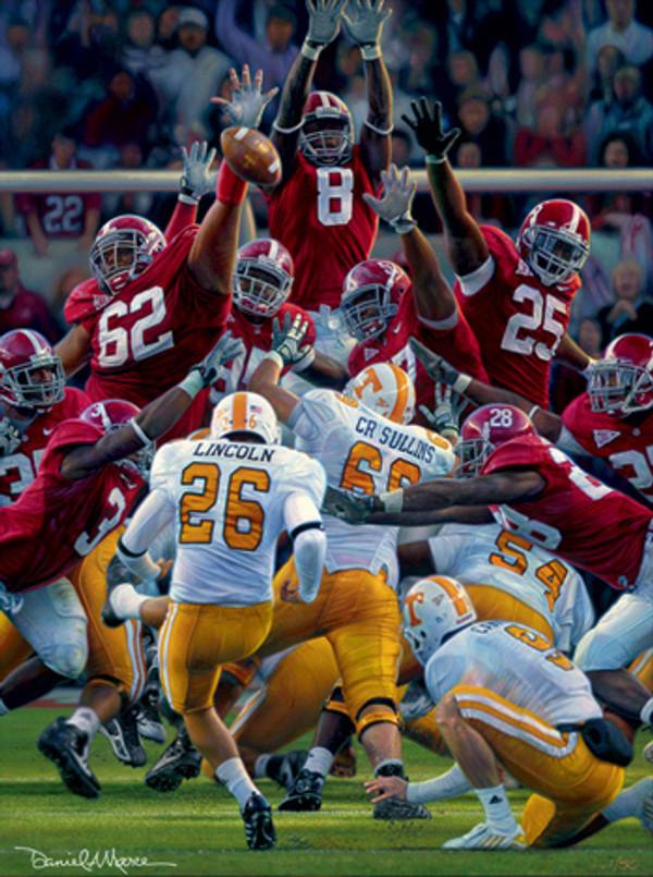 Maximum Block - Canvas Editions - Alabama Football vs. Tennessee 2009