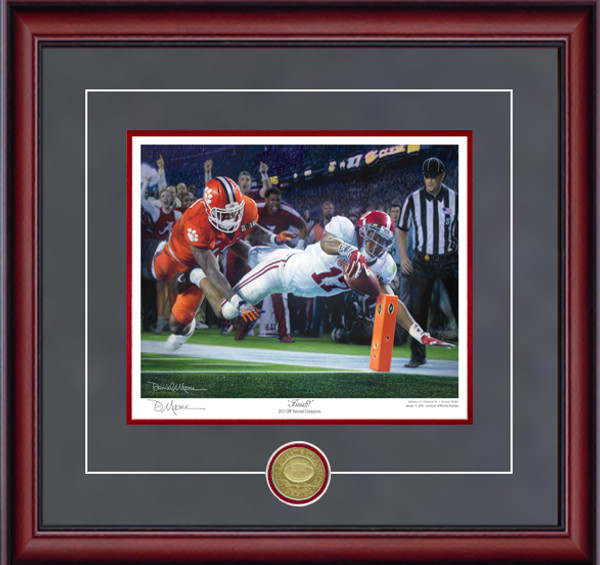 Finish! - Collegiate Classic 8x10 - Alabama Football 2015 National Champions (Kenyan Drake)