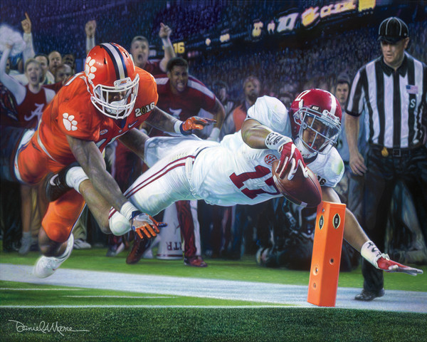 Finish! - Canvas Editions - Alabama Football 2015 National Champions (Kenyan Drake)
