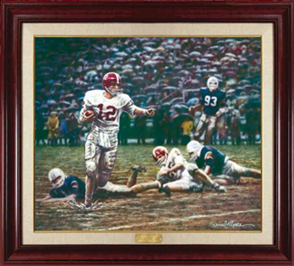 Run In the Mud - Canvas Editions - Alabama Football vs. Auburn 1967 (Ken Stabler)