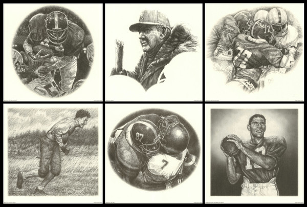 Portfolio Series #1 - Alabama Football Pencil Drawing Prints