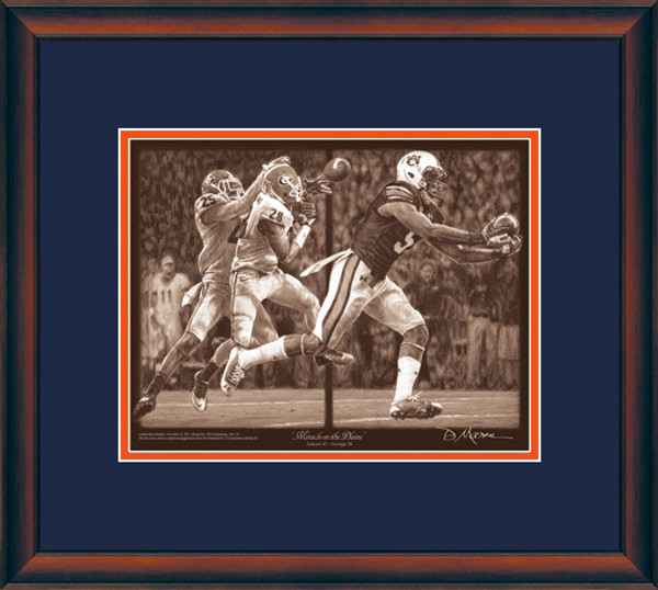 Auburn Football Pencil Drawing Prints