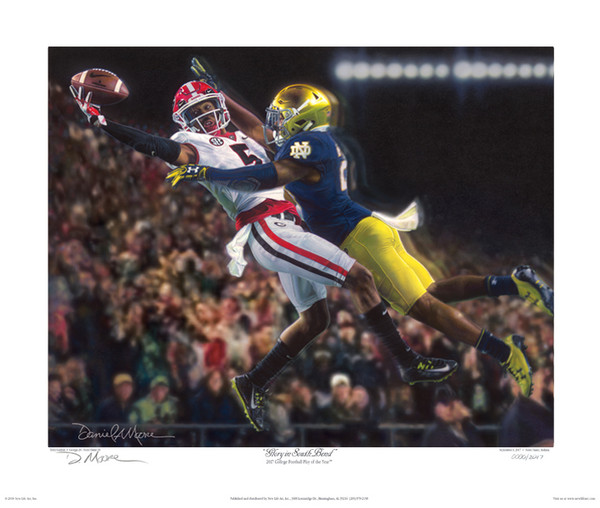 Glory in South Bend - Georgia Football vs. Notre Dame 2017 - Fine Art Editions
