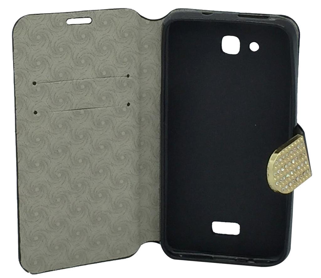 HTC Desire 626s Glitter Bling Wallet Black