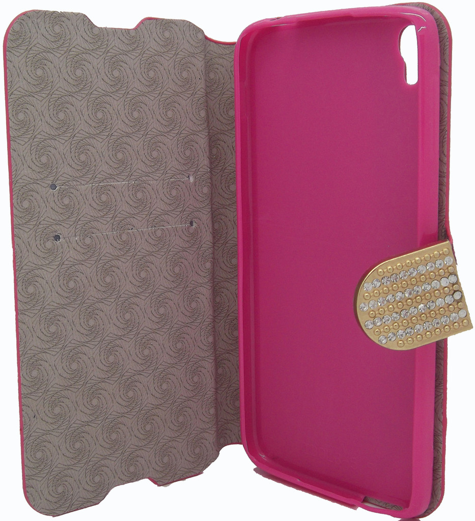 Alcatel Idol 3 5.5 Glitter Bling Wallet Pink