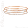 (NEW) BELLA COUTURE STACKABLE FINE PAVE' DIAMOND 14K ROSE GOLD BRACELET (3 CT. TW.)