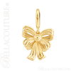 (NEW) BELLA COUTURE Fine 14K Solid Yellow Gold Scrolling Antique Victorian Inspired Bow Charm (24.9MM H x 14.9MM W x 3.8MM D)