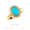 (NEW) Bella Couture Fine Etruscan Turquoise Ring in 14K Yellow Gold