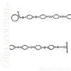 (NEW) BELLA COUTURE ETRUSCAN COLLECTION Fine 14K Solid White Gold Chain Toggle Dangle Drop Accent Bracelet