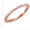 (NEW) BELLA COUTURE LINN Fine Gorgeous Diamond 14K Rose Gold Stackable Eternity Ring Band (1/3 CT. TW.)