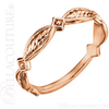 (NEW) BELLA COUTURE ETRUSCAN Fine Gorgeous Rose Gold Beaded Diamond Ring