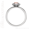 (NEW) BELLA COUTURE BALINA Fine Diamond Genuine Rose Morganite Oval Dainty Gemstone 14K White Gold Ring