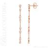 (NEW) BELLA COUTURE® WAVERLY Diamond 14K Rose Gold Chain Dangle Drop Chandelier Earrings